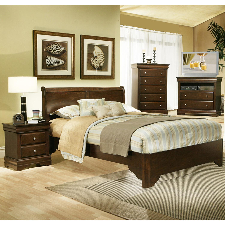 Chesapeake Sleigh Bedroom Set Cappuccino Dcg Stores