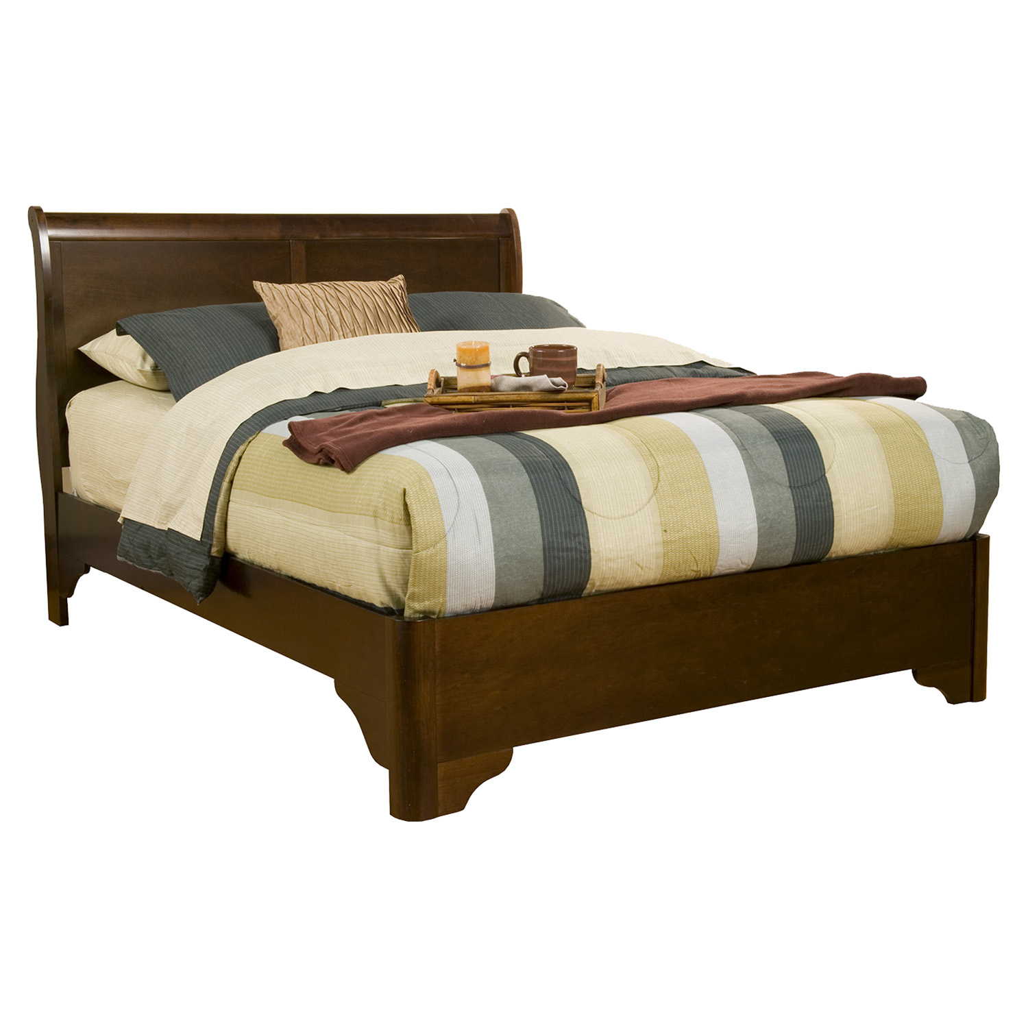 Chesapeake Sleigh Bed - Cappuccino