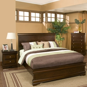 Chesapeake Panel Bedroom Set - Cappuccino