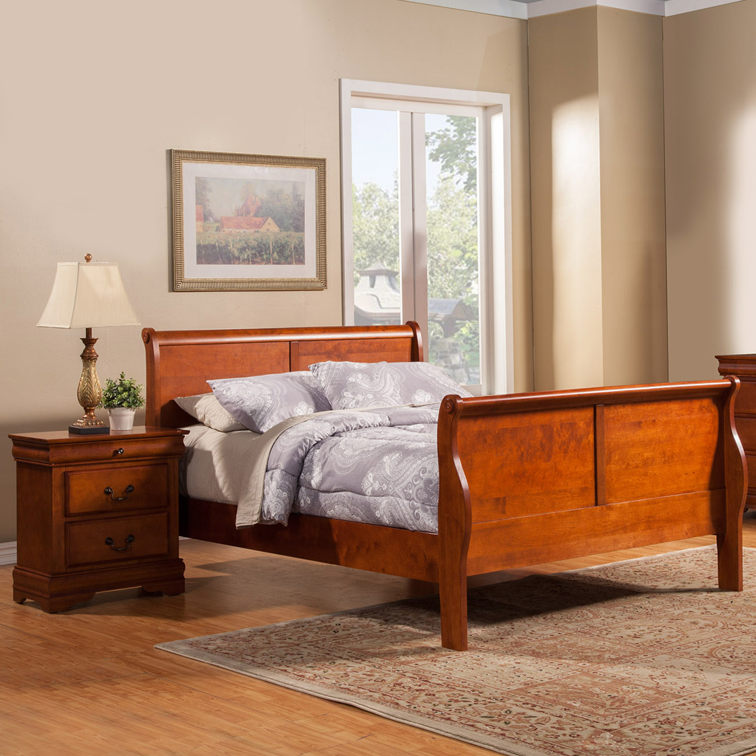 Louis Philippe Bedroom Set Medium Cherry Dcg Stores
