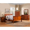 Louis Philippe Queen Sleigh Bed - Medium Cherry - ALP-3700Q
