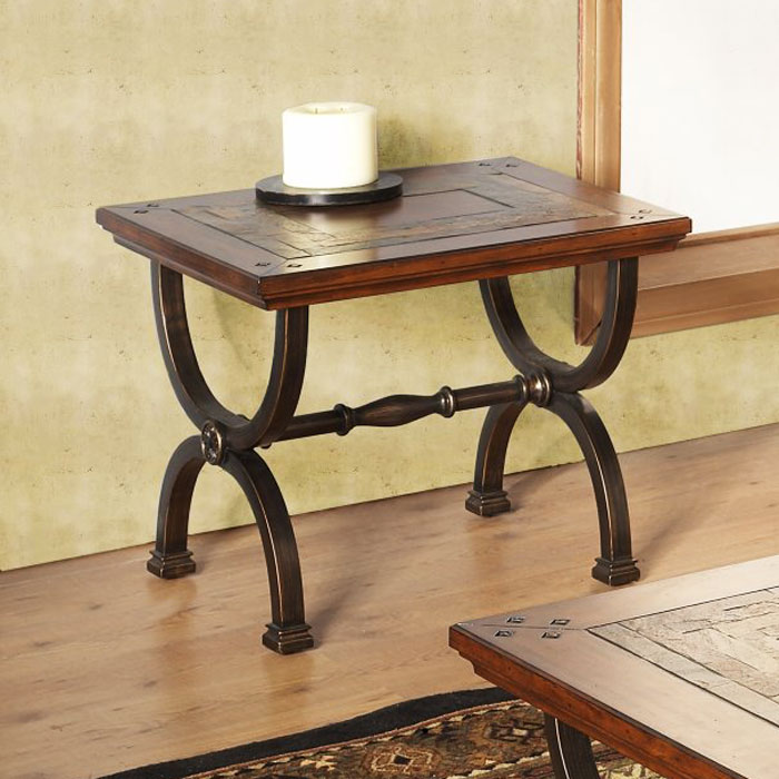 Milford End Table with Metal Legs - ALP-425-02