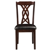 Provo Side Chair - Dark Cherry, Faux Leather Cushion - ALP-5222-C