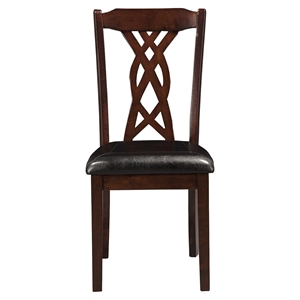 Provo Side Chair - Dark Cherry, Faux Leather Cushion