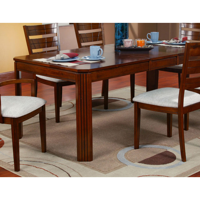 rectangular extension dining table with butterfly leaf dcg stores