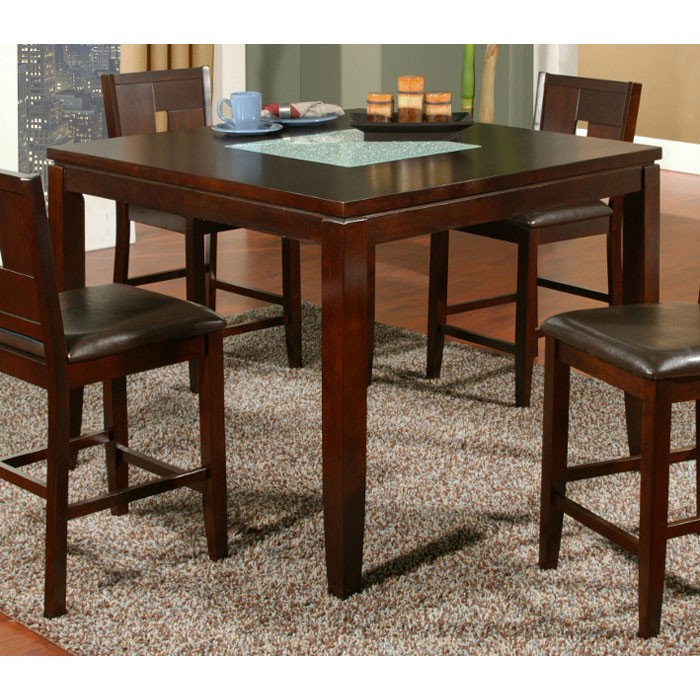Lakeport Counter Height Table with Glass Insert - ALP-552-01