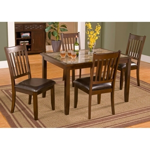 Capitola 5-Piece Dinette Set in Espresso