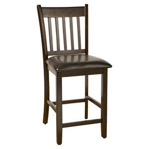 Capitola Pub Chair - Faux Leather Cushion, Espresso