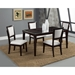Midtown 5-Piece Dining Set with White Upholstered Chairs - ALP-581-SET-WH