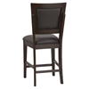 Midtown 5-Piece Counter Set with Black Upholstered Chairs - ALP-581-SET