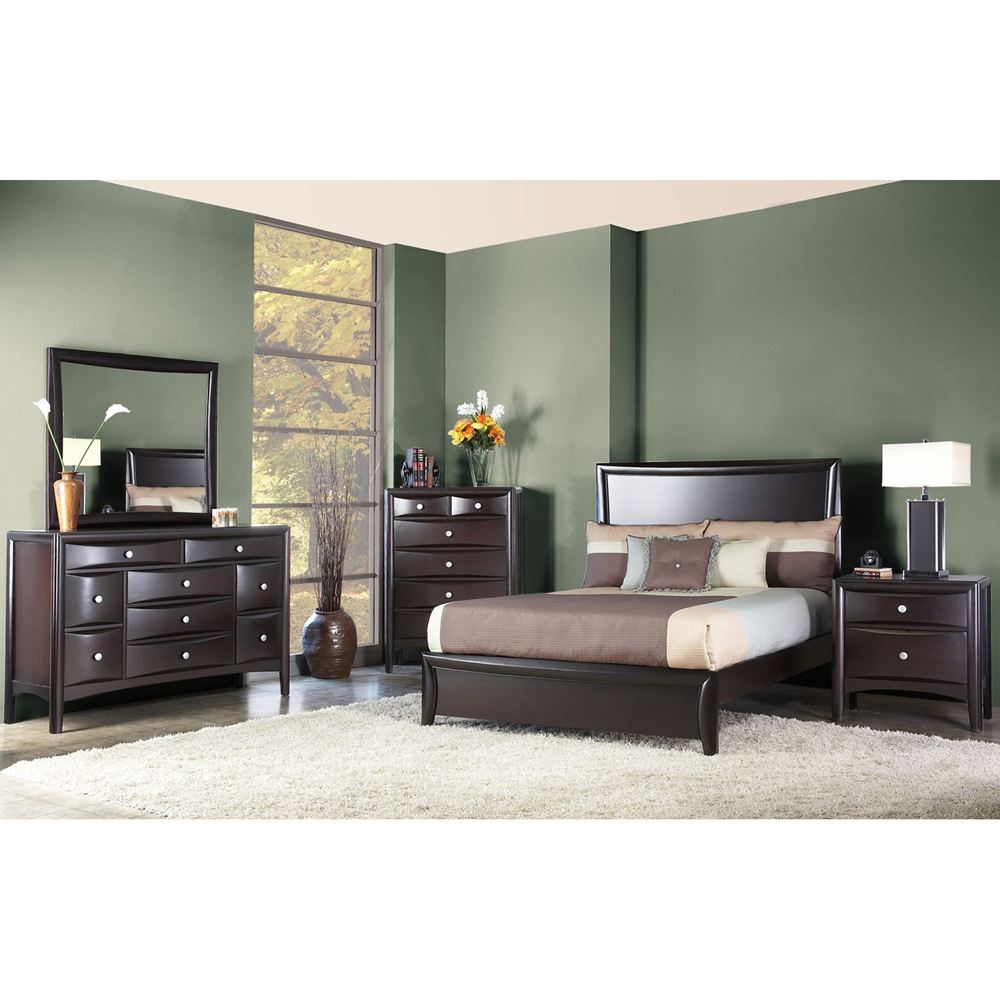 4 piece laguna hills black platform bedroom set cm7652, laguna ...