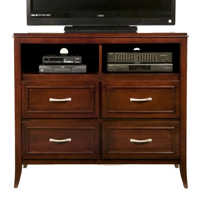 Atherton Media Stand In Merlot Finish Dcg Stores