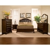 Beaumont Sleigh Bed - Cappuccino, Tufted, Upholstered Headboard - ALP-865-BED
