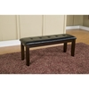 Havenhurst Bench - Merlot Finish, Black Faux Leather Cushion - ALP-8932-03