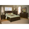 Windsor Queen Panel Bedroom Set - Dark Cherry - ALP-9000-BED-SET