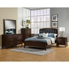 La Jolla Bed - Espresso, Upholstered Headboard - ALP-988-BED