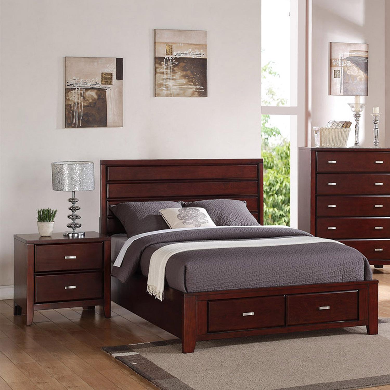 Carrington Bedroom Set Merlot Dcg Stores