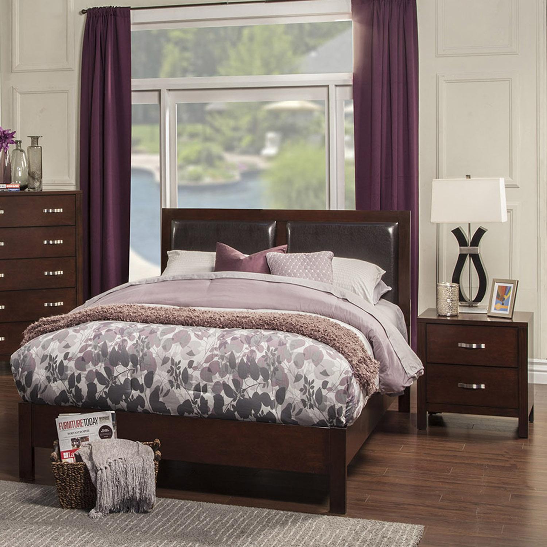 Costa Mesa Bedroom Set Medium Cherry Dcg Stores