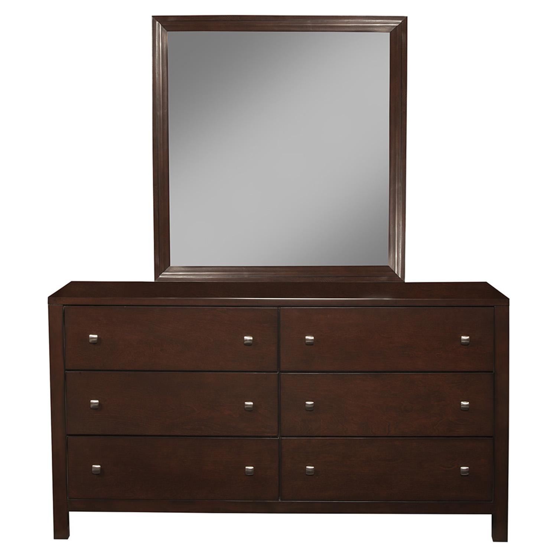 Solana Bedroom Set Bookcase Headboard Cappuccino Dcg