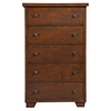 Durango 5-Drawer Chest - Antique Mahogany - ALP-ORI-113-05