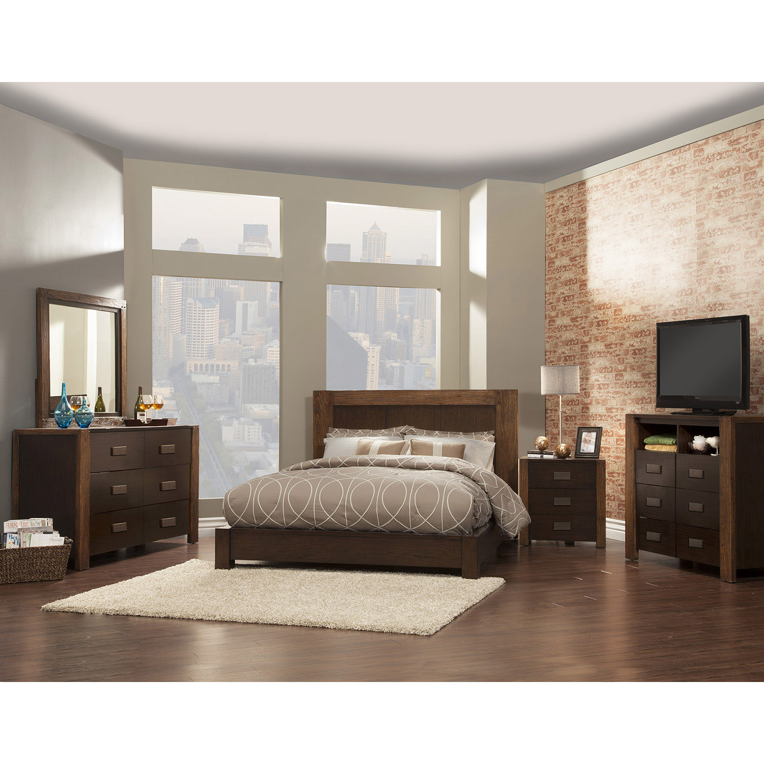 Element 1 Platform Bed - Espresso - ALP-ORI-213-BED
