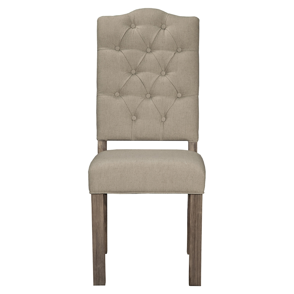 Fiji Tufted Upholstered Side Chair Weathered Gray Dcg