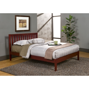 Portola Queen Platform Bed - Light Cherry