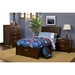 Camarillo Twin Storage Platform Bed - Merlot - ALP-TA-12-T
