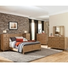 Natural Elements Panel Bed - Soft Driftwood with Off-White Glaze - AW-1000-PB-BED