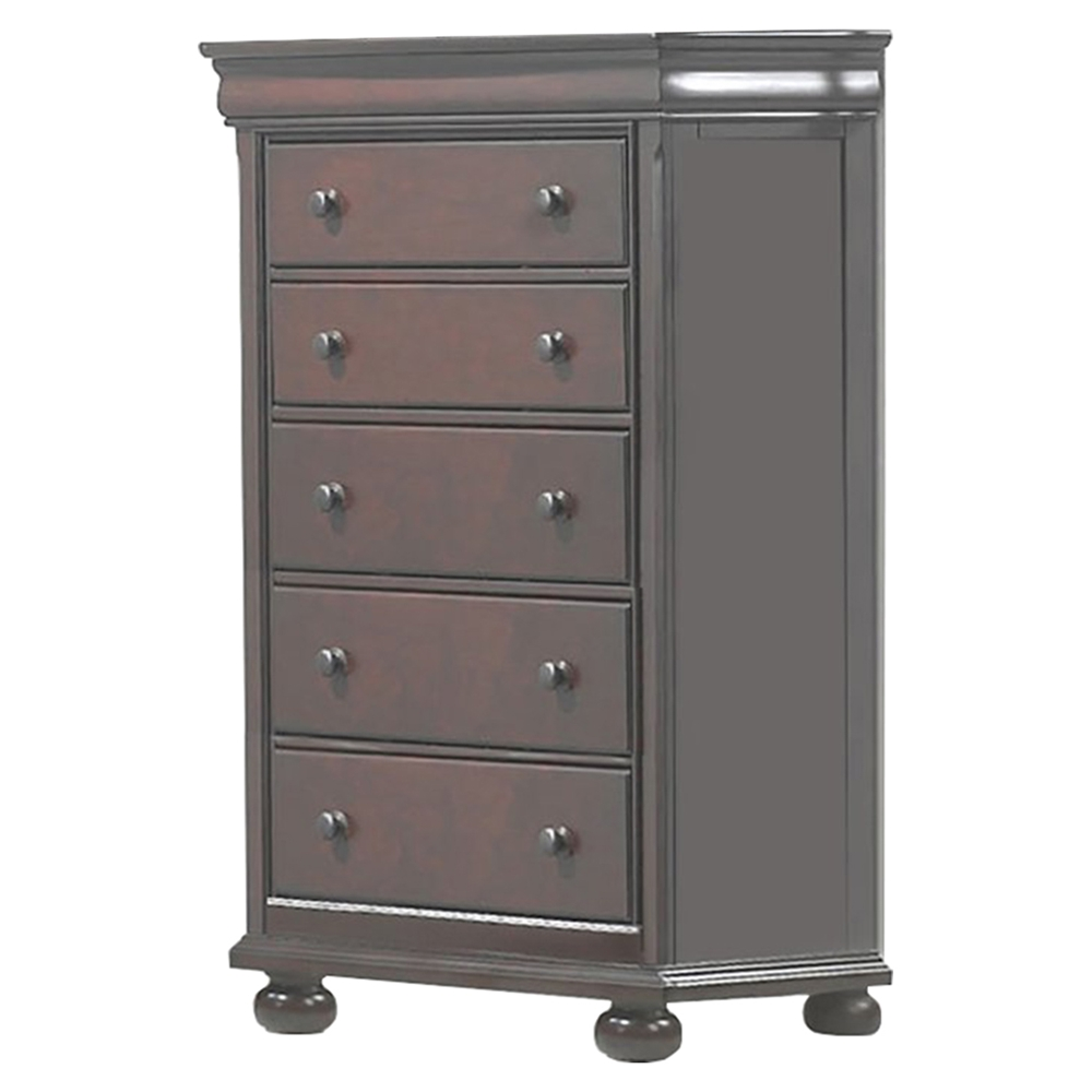 Hyde Park 5 Drawer Chest Merlot Dcg Stores