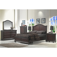 Hyde Park Storage Bed Set - Merlot
