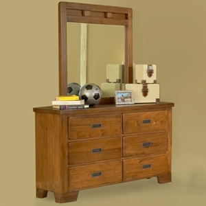 Heartland 6-Drawer Dresser with Mirror