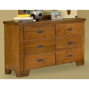 Heartland 6-Drawer Dresser in Spice Brown