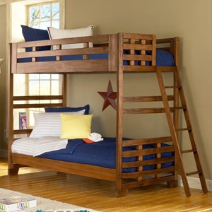 Heartland Twin Bunk Bed in Spice Brown