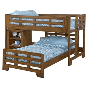 Low Loft Bed with Caster Bed - Spice Brown