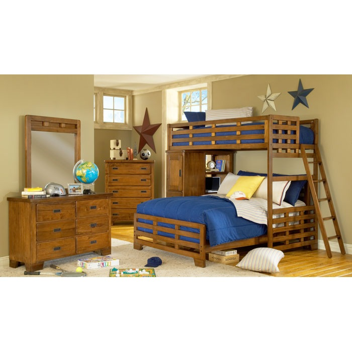 Heartland Twin Over Full Study Loft Bunk Bed - AW-1800-TFLB