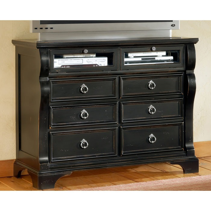 Heirloom Black TV Chest with 6 Drawers