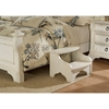 Heirloom Wood Bedside Footstool - Antique White - AW-2910-775