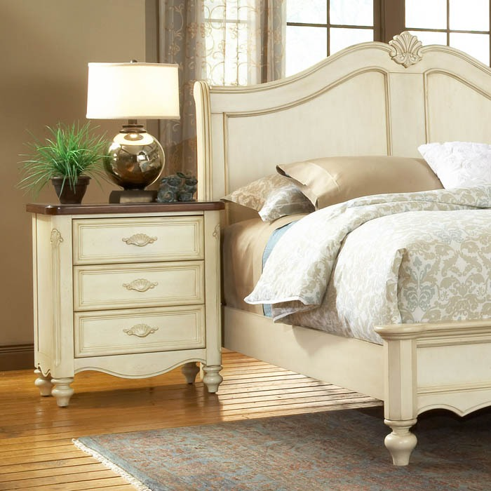 ... Chateau French Country Sleigh Bedroom Set   AW 3501 4PC ...