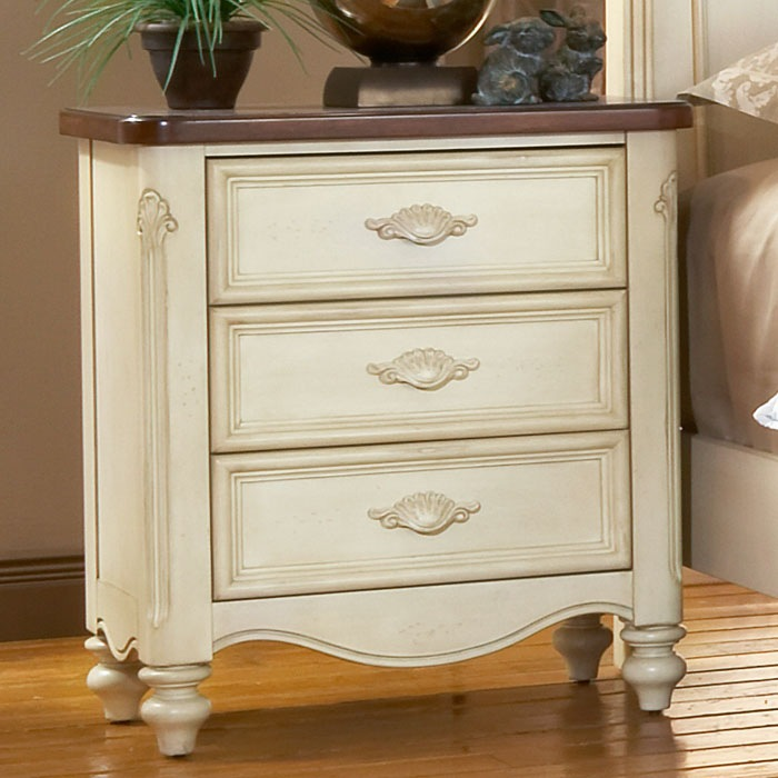 antique white nightstand. Chateau Antique White Nightstand E