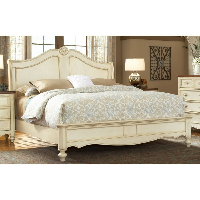Chateau French Country Style Sleigh Bed - AW-3501