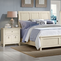Courtyard Bedroom Set - Champagne Finish, Sleigh Headboard