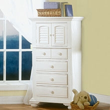 Cottage Traditions Youth White Chest with 4 Drawers
