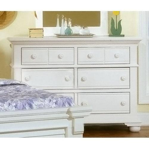 Cottage Traditions Youth White Double Dresser