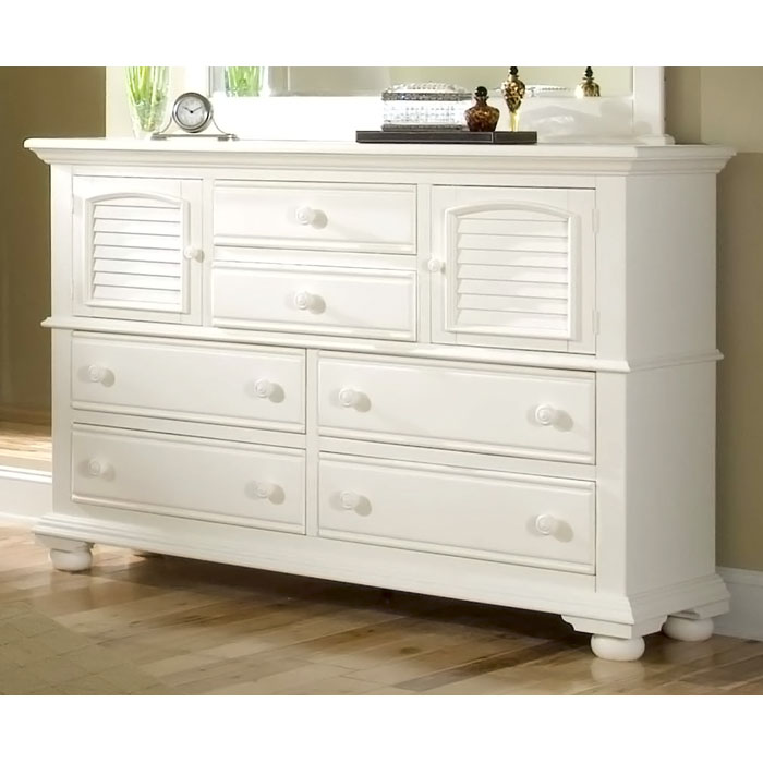 Cottage Traditions High Dresser With 6 Drawers In White Aw 6510 262