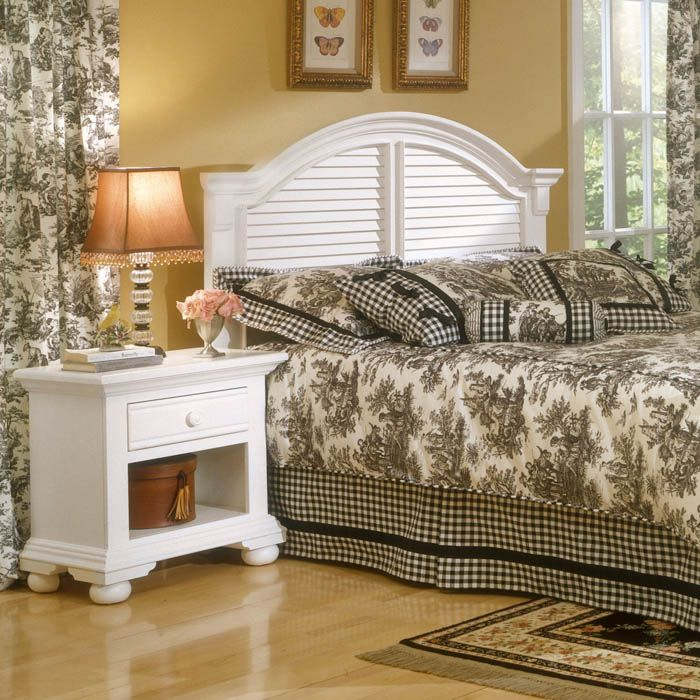 Cottage Traditions White Bedroom Set with Panel Bed - AW-6510-4PC