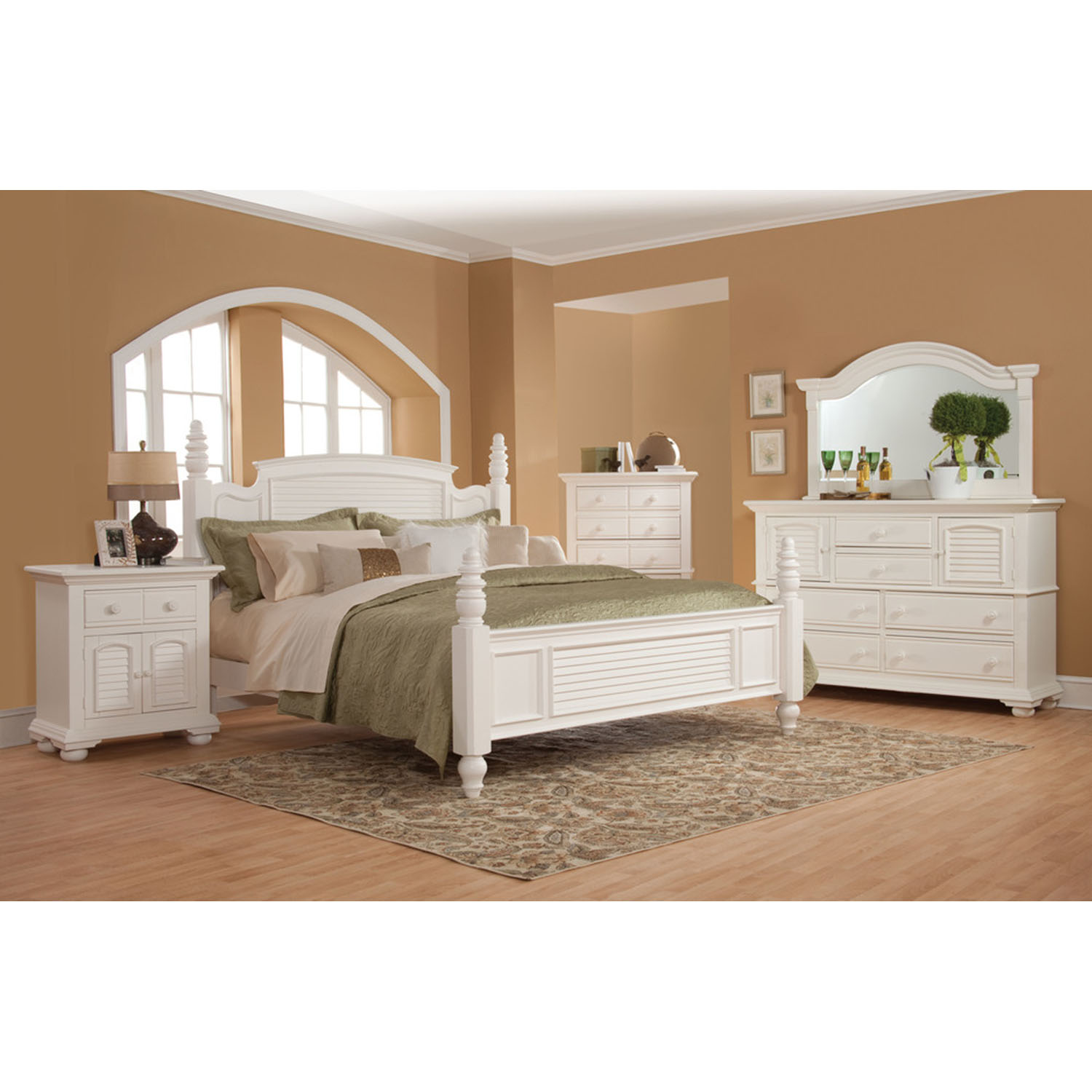 Cottage Traditions Poster Bed - Eggshell White - AW-6510-POS-BED