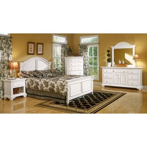 Cottage Traditions White Bedroom Set with Panel Bed
