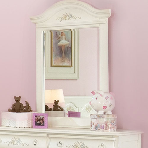 Summerset White Mirror with Arched Frame