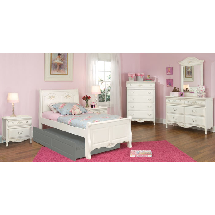 Summerset White Sleigh Bed - AW-67100